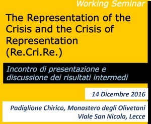 Re.Cri.Re Working Seminar – Presentation of the intermediate results of the study – Lecce (Italy), 14 December 2016